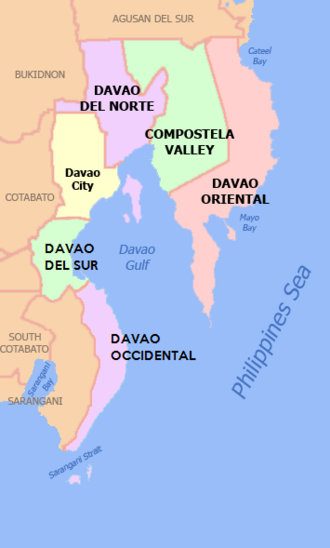 Davao Region - Map of Region XI