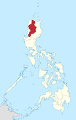 Map of the Philippines highlighting Cordillera Region