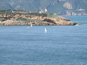 Tipaza - Tipaza Lighthouse and the promontory