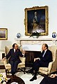 Photograph of President Gerald R. Ford Meeting with Prime Minister Pierre Trudeau of Canada in the Oval Office - NARA - 7462071.jpg