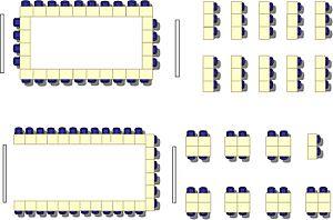 English: Multimedia classroom seating arrangement.