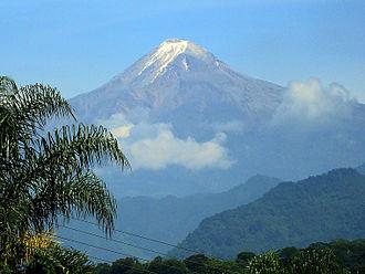 Pico de Orizaba - Pico de Orizaba, looking northwest from Fortín de las Flores, Veracruz