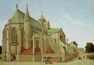 The Mariaplaats with the Mariakerk in Utrecht
