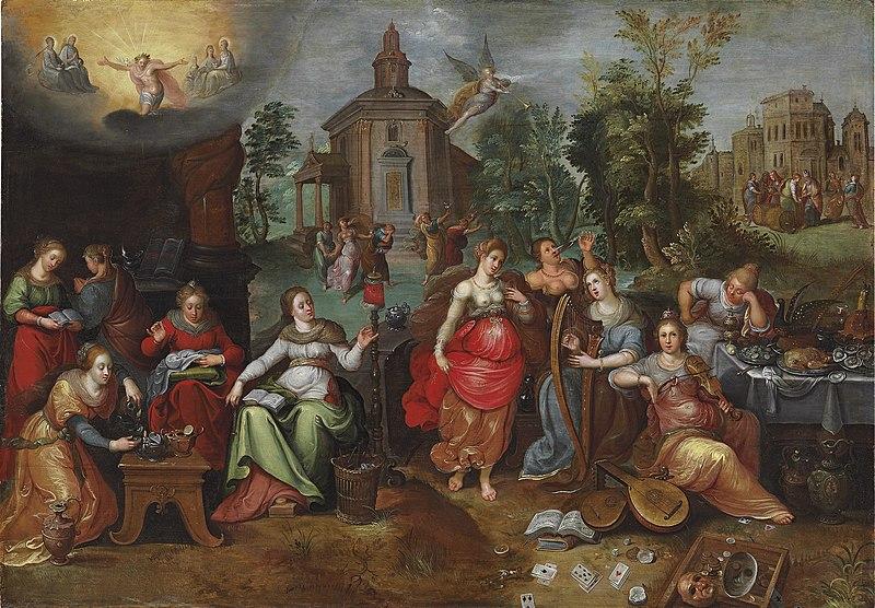 File:Pieter Lisaert IV - De gelijkenis van de wijze en dwaze maagden.jpg