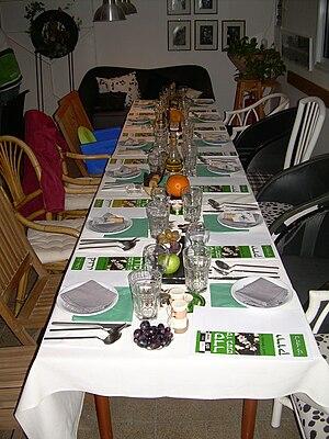Tu BiShvat seder - Tu BiShvat seder table