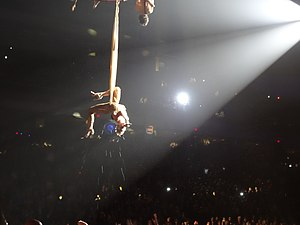 "Glitter in the Air - Pink performing ""Glitter in the Air"" at her The Truth About Love Tour, similar to her 52nd Grammy Awards performance."