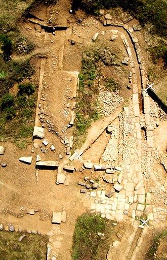 Pistiros - Pistiros. Aerial view of main excavation area (2009)