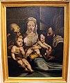 Pittore toscano da beccafumi, sacra famiglia con s. giovannino e il donatore come un santo, xvii sec.JPG