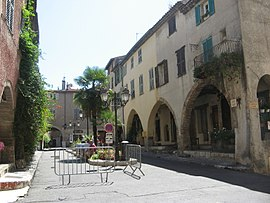 The Place des Arcades Biot, in Biot