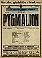 Plakat za predstavo Pygmalion v Narodnem gledališču v Mariboru 30. oktobra 1927.jpg