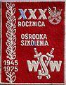 Plakietka XXX rocznica Ośrodka Szkolenia WSW 1945-1975.JPG