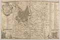 Plan of ancient Rome with a view of the Pantheon lower left and a triumphal arch lower right MET DP853988.jpg