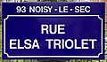 Plaque Rue Elsa Triolet - Noisy-le-Sec (FR93) - 2021-04-16 - 1.jpg