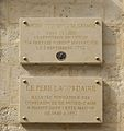 Plaques Couvent des Carmes - Père Lacordaire, 70 rue de Vaugirard, Paris 6.jpg