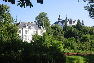 Plön - Plön Castle seen from the Plöner See