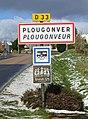 Plougonver. Panneau d'agglomération.jpg