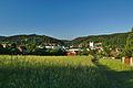 Pohled na obec od západu z modré turistické trasy, Sloup, okres Blansko (02).jpg