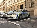 Police car in Prague - Voiture de police dans Prague - CZ Praha 03.jpg