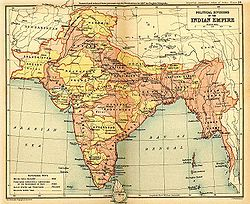 Political Divisions of the Indian Empire, 1909.jpg