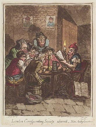London Corresponding Society - Political cartoon of the London Corresponding Society