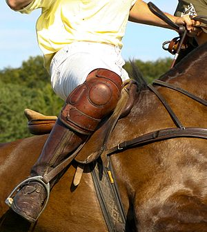 Knee pad - Knee pads are standard PPE for polo players