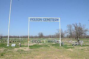 National Register of Historic Places listings in Delaware County, Oklahoma - Image: Polson Cemetery