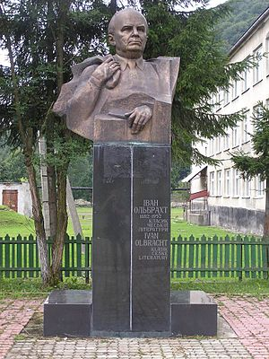 Ivan Olbracht - Ivan Olbracht memorial in Kolochava village, Ukraine.