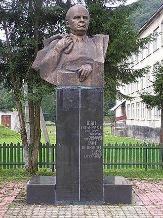 Ivan Olbracht - Image: Pomník Ivana Olbrachta v Koločavě