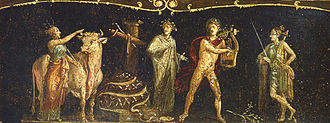Iphigenia in Tauris - Iphigenia in Tauride, decoration in Pompeii.