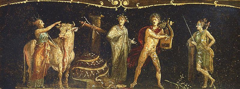 Archivo:Pompeii - Casa dei Vettii - Triclinium - Iphigeneia.jpg
