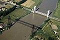 Pont transbordeur de Rochefort-Martrou et du pont levant de Martrou - Vue aérienne Ouest.jpg