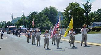Port Jervis, New York - The parade on July 14, 2007 celebrating the 100th year as a city