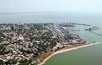 Taganrog - Aerial view of the port of Taganrog (2006)