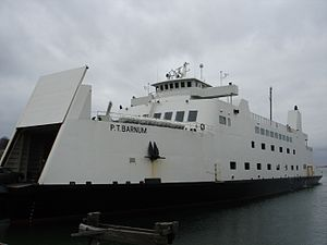 Transportation on Long Island - The MV P.T. Barnum docked at Port Jefferson