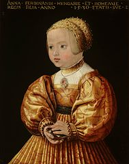 Portrait of Anna of Austria (1528-1590), Aged Two