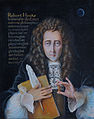 Portrait of Robert Hooke with a book, spring and quill.JPG