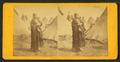 Portrait of a Sioux (Dakota) woman in front of teepees, from Robert N. Dennis collection of stereoscopic views.png