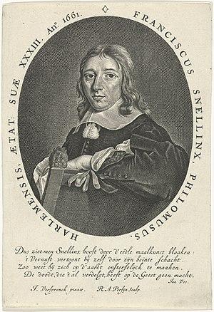 Portret van Franciscus Snellinx, RP-P-1885-A-9191