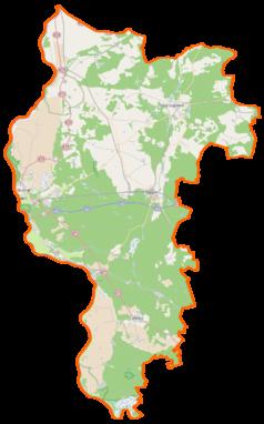 Mapa lokalizacyjna powiatu słubickiego