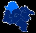 Powiat strzeliński granice gmin i miast Borów.png