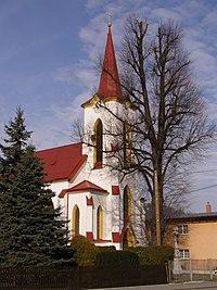 Pržno, kostel Neposkvrněného početí PM, věž 01.jpg