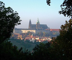 Postage stamps and postal history of Czechoslovakia - Hradčany Castle was the inspiration for the first stamp issues