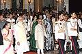 Pranab Mukherjee, the Vice President, Shri M. Hamid Ansari, the Prime Minister, Shri Narendra Modi and the Speaker, Lok Sabha, Smt. Sumitra Mahajan, at a Civil Investiture Ceremony, at Rashtrapati Bhavan, in New Delhi.jpg