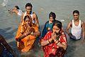 Praying Devotees - Chhath Puja Ceremony - Baja Kadamtala Ghat - Kolkata 2013-11-09 4290.JPG