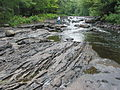 Precambrian basalt lava ridge at 'The Gut', Apsley, Ontario, Canada.JPG