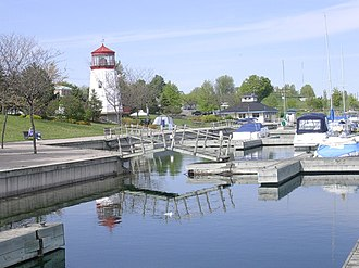 Prescott, Ontario - Prescott waterfront and marina