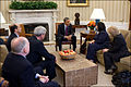 President Barack Obama meets with Christine Levinson in the Oval Office on March 6, 2012.jpg