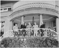 President Harry S. Truman visits Soviet Prime Minister Josef Stalin at Mr. Stalin's residence during the Potsdam... - NARA - 198981.tif