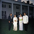 President John F. Kennedy and Mrs. Jacqueline Kennedy with President of Pakistan Mohammad Ayub Khan and His Wife at Mount Vernon, Virginia.jpg