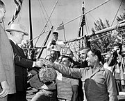President Truman with Greek sponge divers.